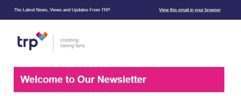 TRP Newsletter Preview Text Example