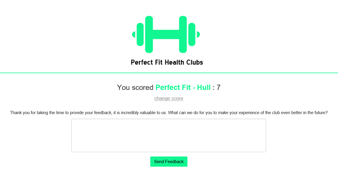 Perfect Fit Health Clubs Net Promoter Score®