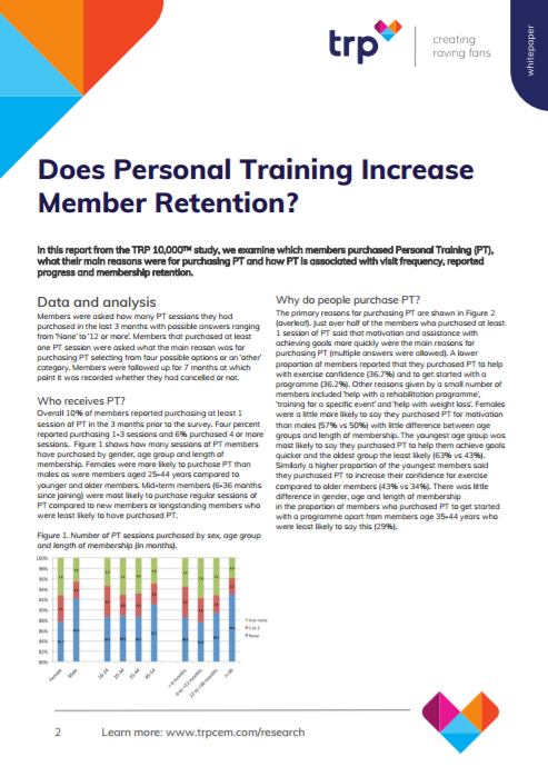 Does Personal Training Increase Member Retention