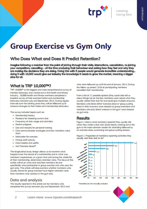 Group Exercise vs Gym Only