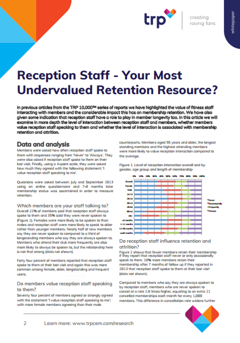 Reception Staff - Your Most Undervalued Retention Resource
