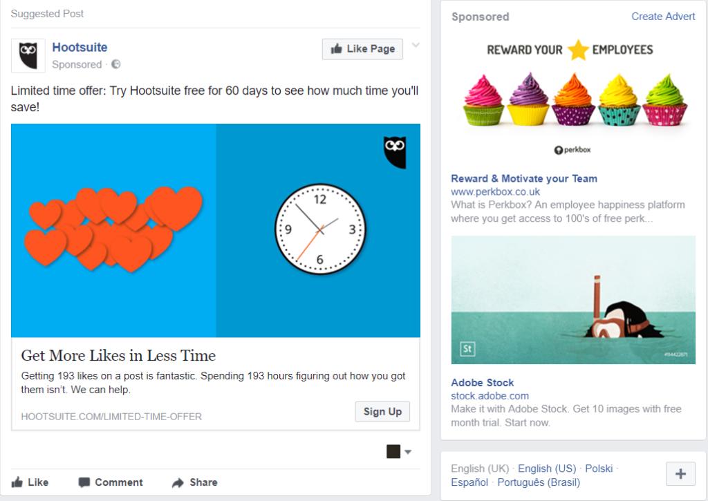 Hootsuite Facebook Ad