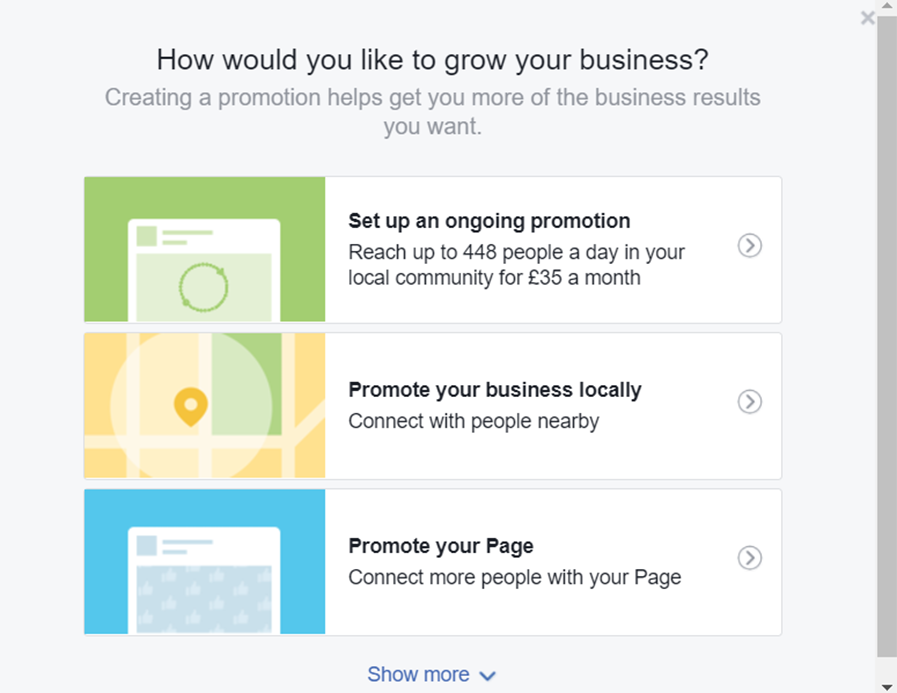 Facebook Ads - Choose Your Goal