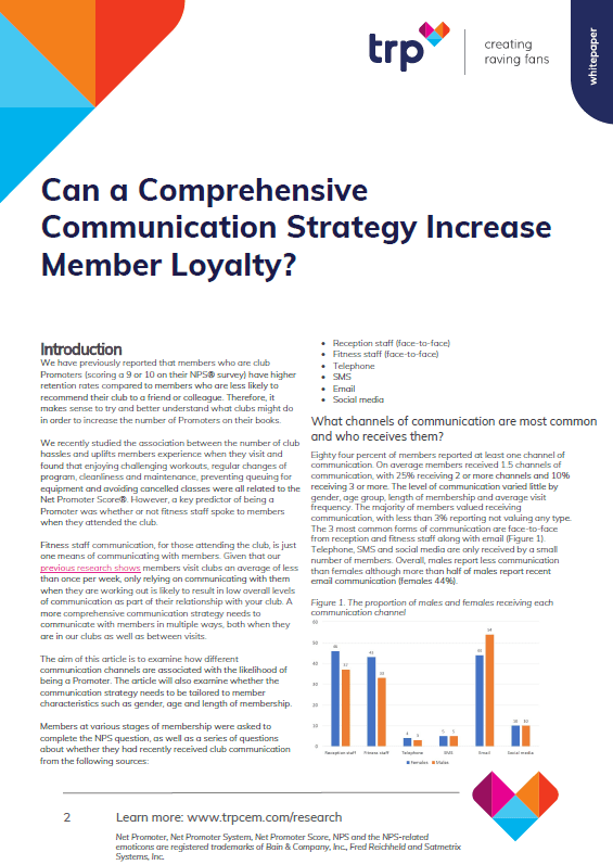 Can a Comprehensive Communication Strategy Increase Member Loyalty?