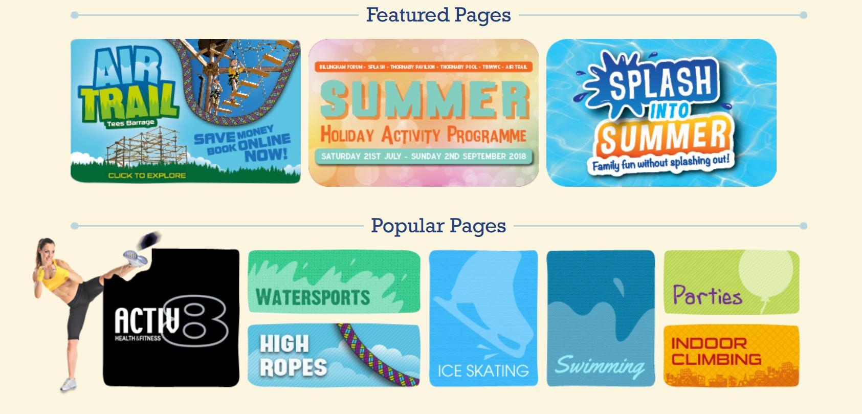 Tees Active Website