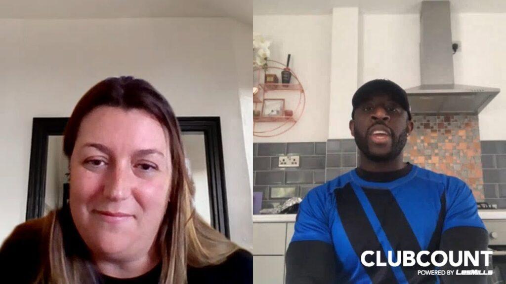 Split screen screenshot of Julie Allen and Ben Edwards from their interview